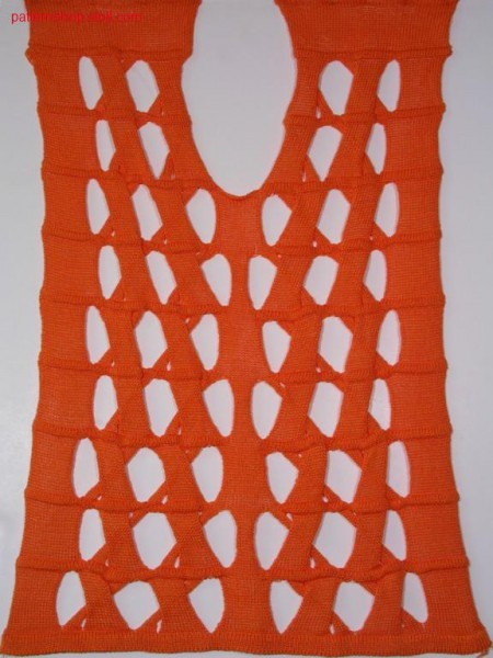 Fully fashion front piece with intarsia cables / Fully Fashion Vorderteil mit Intarsiaz