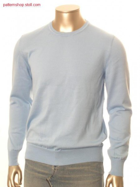FF-jersey basic pullover with french shoulder / FF-Rechts-Links Basic-Pullover mit franz