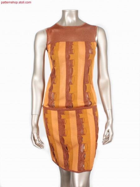 Fully Fashion dress with vertical intarsia stripes / FullyFashion Kleid mit vertikalen Intarsia-Streifen
