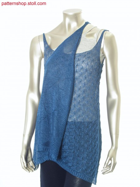 Slipover top in layering look with pointelle structures / Top mit