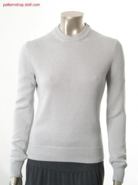 Fitted fully fashion jersey basic pullover / Taillierter Fully Fashion Rechts-Links Basic-Pullover
