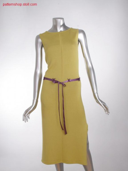 Fitted ff-jersey dress with transfer structure / TailliertesFF-Rechts-Links Kleid mit Umh