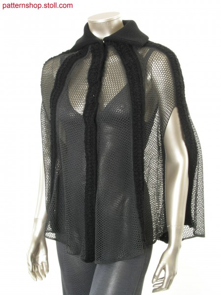 Fully Fashion cape in pointelle-mesh structure / Fully Fashion Cape in Petinet-Netzstruktur