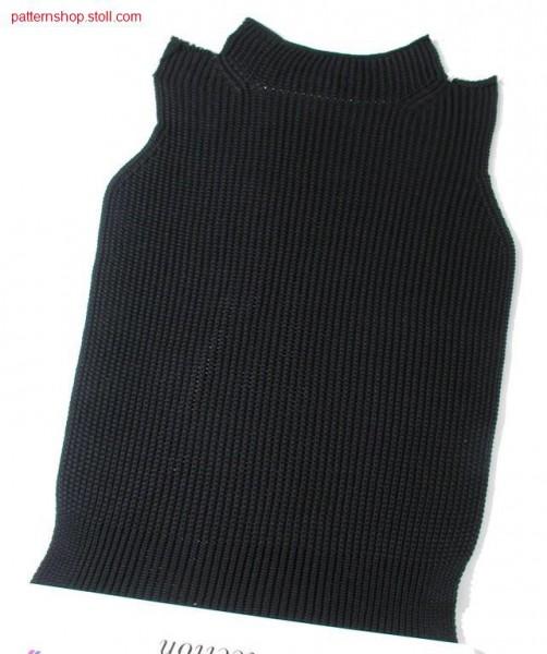 Fully fashion front in 1x1 half-cardigan / Fully Fashion Vorderteil in 1x1 Perlfang