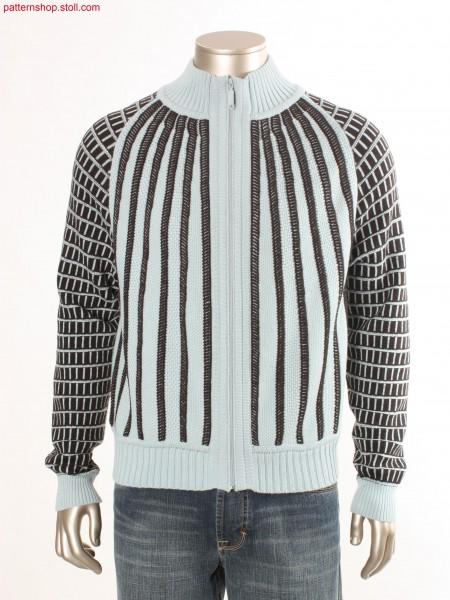 Fully Fashion cardigan with stripes / Fully Fashion Strickjacke mit Streifen