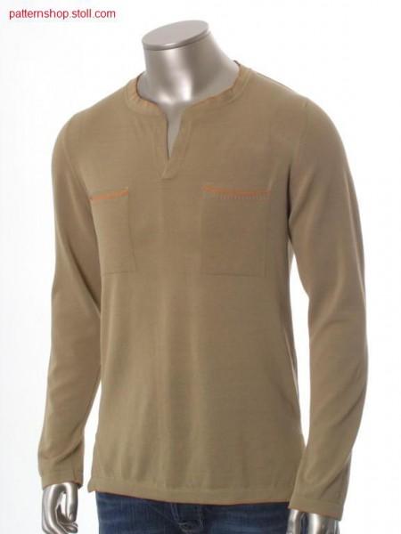 FF-jersey shirt with ornamental stitch edges / FF-Rechts-Links Hemd mit Zierstichkanten