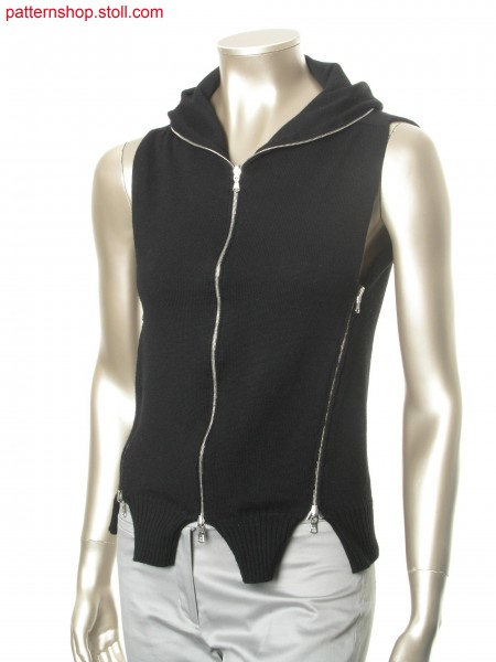 Convertible jersey garment with saddle shoulder / Wandelbares Rechts-Links Kleidungsst