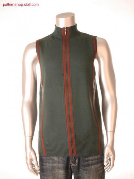 Fully Fashion-Intarsia waistcoat / Fully Fashion-Intarsia Weste