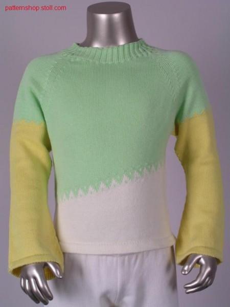 Children's raglan pullover with bell sleeves / Kinder Raglanpullover mit Trompeten