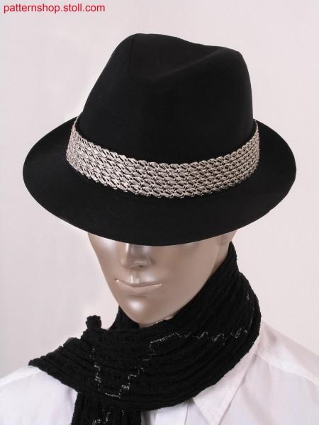 Hatband with fancy stitch motif / Hutband mit Zierstich-Motiv