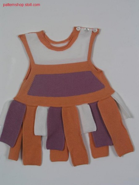 Sleeveless FF-Intarsia children's dress /
