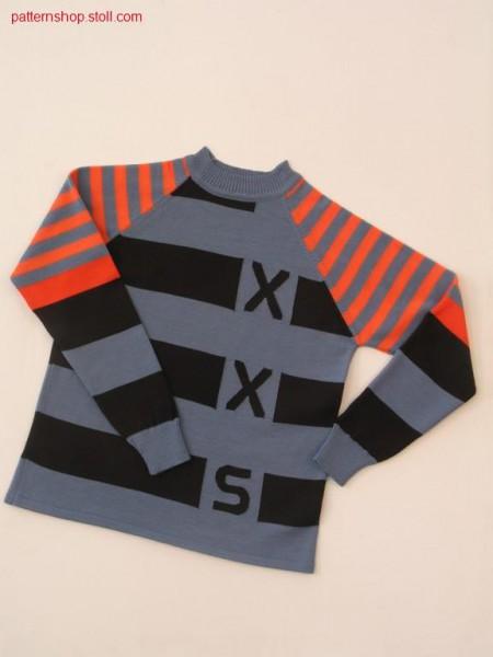 FF-intarsia children's raglan pullover / FF-Intarsia Kinderraglanpullover