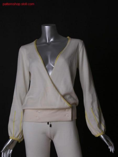FF-jersey cardigan with inserted sleeves / FF-Rechts-Links Strickjacke mit eingesetzten