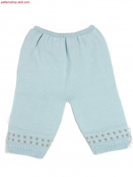 Jersey baby-trousers / Rechts-Links Babyhose