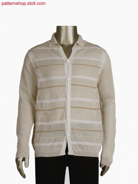 Fully Fashion striped shirt with integrated placket and button hole