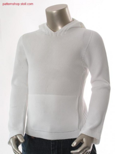 Jersey children's hooded pullover / Rechts-Links Kinder Kapuzenpullover