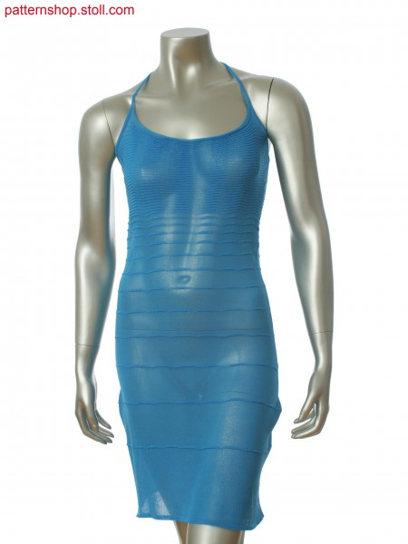 Fully Fashion halter neck dress with single jersey and ripple structure