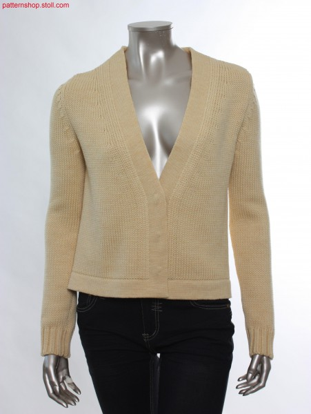 Fully Fashion jersey cardigan / Fully Fashion Rechts-LinksStrickjacke
