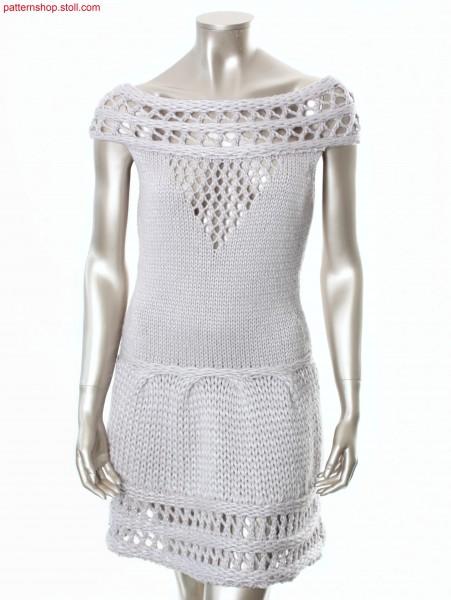 Sleeveless Fully Fashion dress with carmen neckline /
