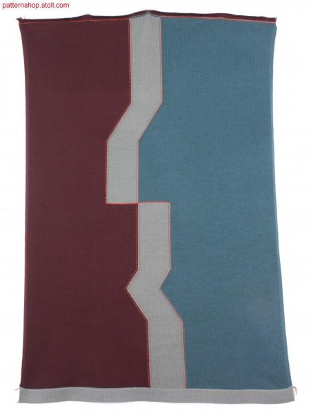 Intarsia pattern with ornamental seam / Intarsiamuster mitZier-Verbindungsnaht