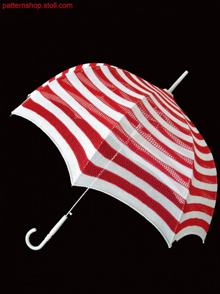 Stoll- knit and wear&reg, 2 colour striped umbrella in fair isle technique