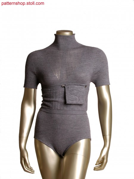 Stoll-knit and wear&reg 2x2 rib body with pointelle structure