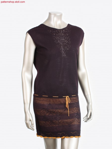 Sleeveless Fully Fashion dress with filigree motif /