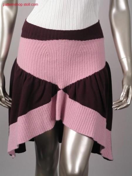2x2 rib-jersey pleated skirt / 2x2 Rippe-Rechts-Links Faltenrock