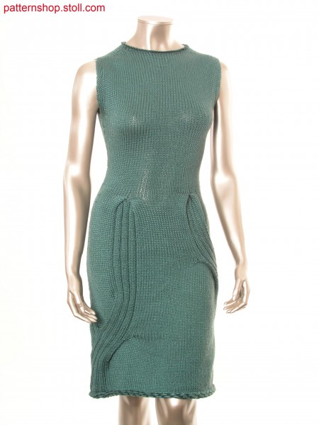Sleeveless dress with jersey top part in knit&wear /