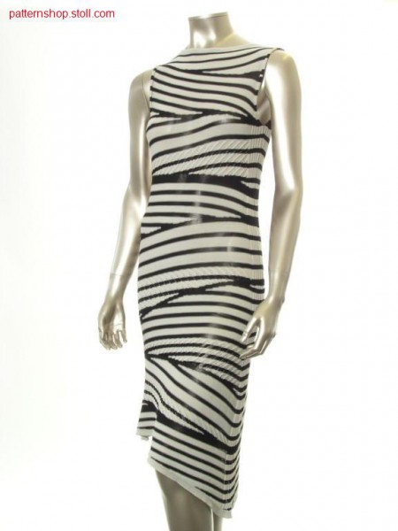 Dress in gore technique with racked tubular ribs / Kleid in Spickeltechnik mit versetzten Schlauchrippen