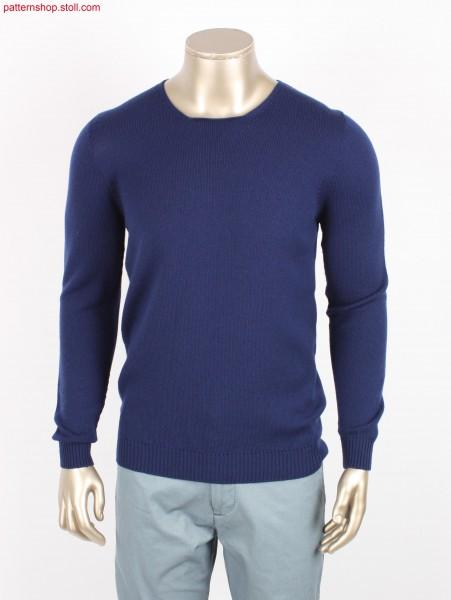 Jersey men's crew-neck pullover / Rechts-Links Herren-Rundhalspullover