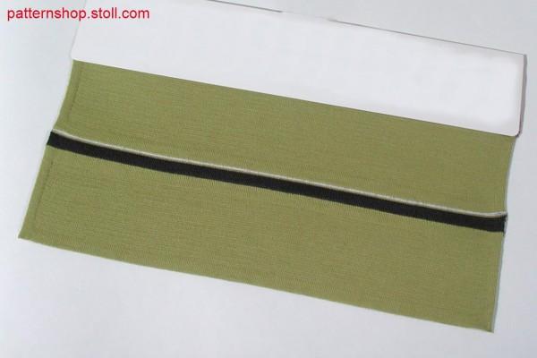 Milano-rib polo collar with tubular edges / Polokragen in Milano-Rib mit Schlauchrändern