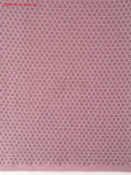 Tubular knitted fabric with 2-colour float jacquard / Schlauchgestrick mit 2-farbigem Flottjacquard