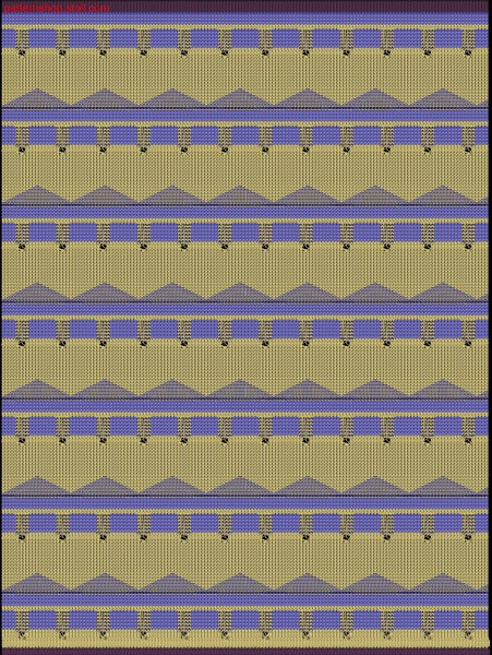Swatch in 2-colour jersey-tubular structure / Musterabschnitt mit Rechts-Links, 2-farbigem Schlauch
