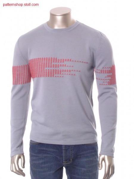 FF-pullover with inserted sleeves / FF-Pullover mit eingesetzten