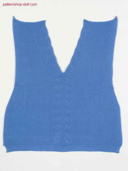 Fully Fashion front in 1x1 tuck stitch rib / Fully Fashion-Vorderteil in 1x1 Fangrippe