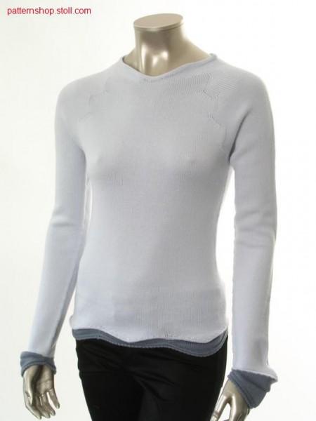 Fitted jersey raglan pullover / Taillierter Rechts-Links Raglanpullover