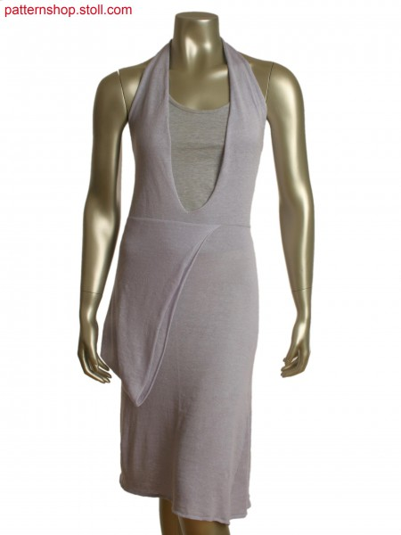 Fully Fashion halter neck dress in layer technology, knitted in one piece