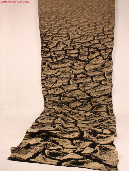 Wall carpet in cracked soil look / Knickboden-Wandteppich