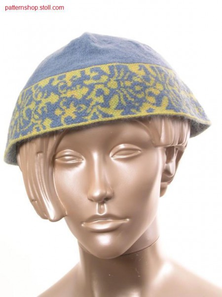 Cap in gore technique with 2-colour jacquard / M