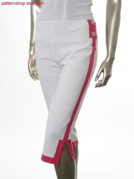 Fully fashion capri trousers with intarsia-side stripes / Fully Fashion Capri Hose mit Intarsia-Seitenstreifen