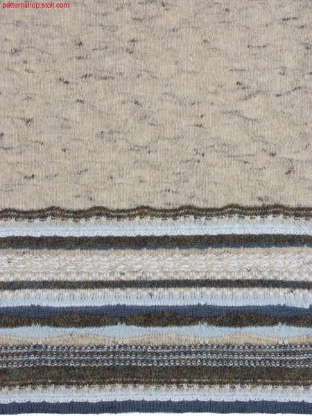 Swatch with different structured stripes / Musterausschnitt mit verschiedenen Strukturringel
