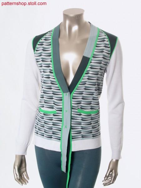 Fully Fashion-intarsia cardigan / Fully Fashion-Intarsia Strickjacke