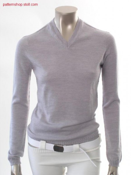 Jersey raglan pullover with saddle shoulder / Rechts-Links Raglanpullover mit Sattelschulter