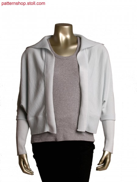 Fully Fashion cardigan, collar and cuff in double layer structure