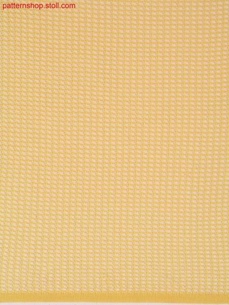 Ringed half-cardigan racking pattern with drop stitch / Geringeltes Perlfang-Versatzmuster mit Nadelzug