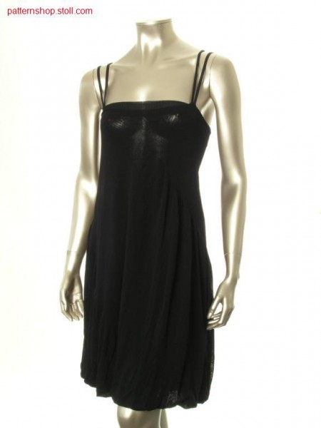 Loose-fitting jersey dress with shoulder straps / Rechts-Links H