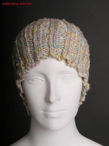 Cap in 2x2 rib knit / M