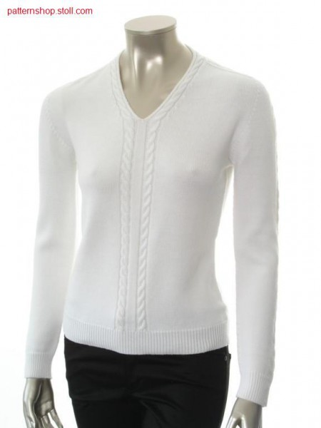 Fitted pullover with 2x3 cables / Taillierter Pullover mit 2x3 Z