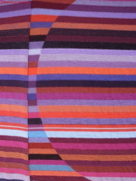 Reverse plated jersey structure fabric / Wendeplattiertes Rechts-Links Strukturgestrick